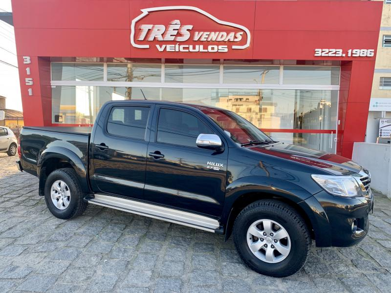 TOYOTA Hilux CD SRV 4x4 2.7 Flex 16V Aut. PRETA Automático Gasolina 2012