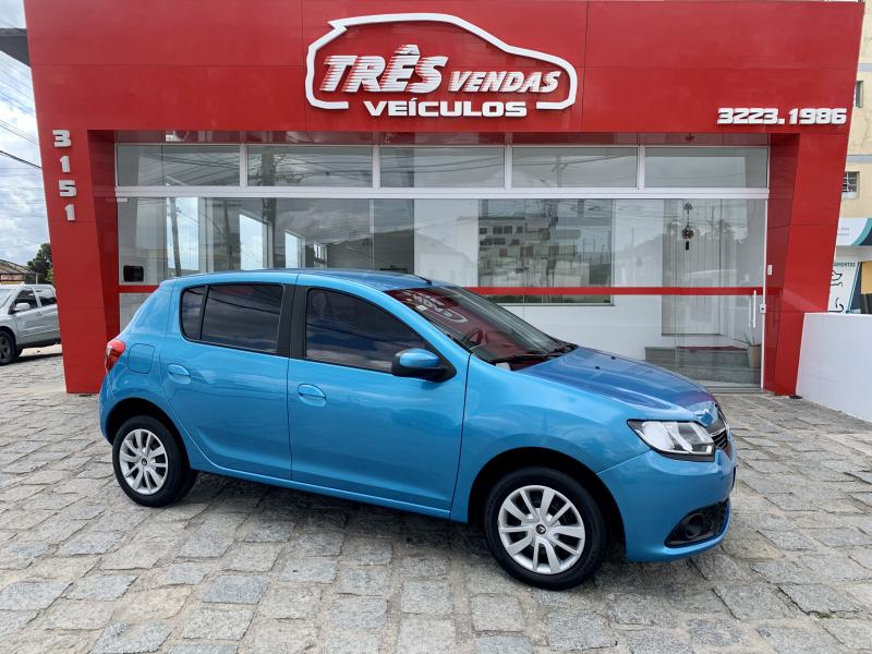 RENAULT SANDERO Expression Hi-Power 1.0 16V 5p AZUL Manual Flex 2015
