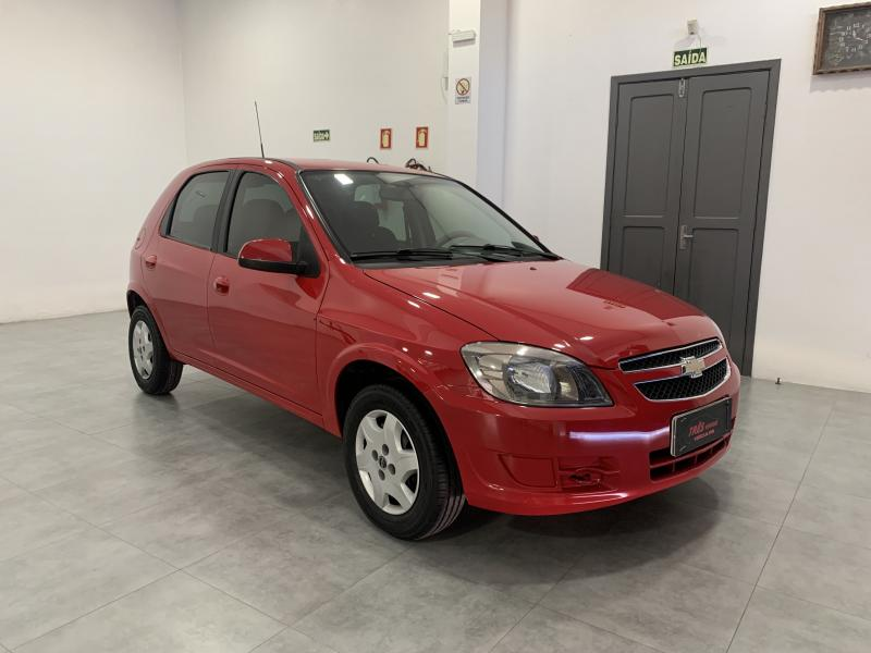 CHEVROLET Celta Spirit/ LT 1.0 MPFI 8V FlexP. 5p VERMELHA Manual Flex 2015